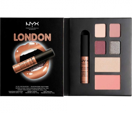 Set Machiaj NYX Professional Lip Eye Face Collection City Gift Set London, Special Edition