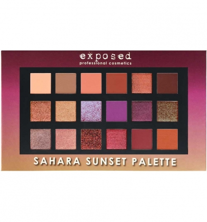 Paleta profesionala EXPOSED Sahara Sunset Palette, 18 Farduri