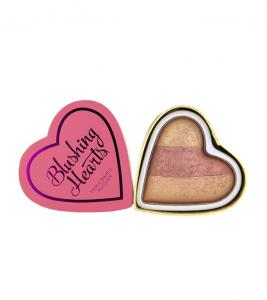 Blush Iluminator Makeup Revolution I Heart Makeup Blushing Hearts - Peachy Keen, 10g