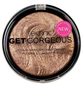 Iluminator cu particule bronzante Technic Get Gorgeous Highlighting Powder, 12g