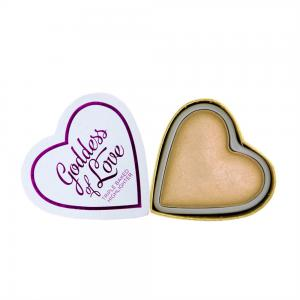 Iluminator Makeup Revolution I Heart Makeup Blushing Hearts Baked Highlighter - Golden Goddess, 10g