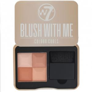 Paleta Profesionala Cu 4 Blush-uri W7 Blush With Me - Honeymoon