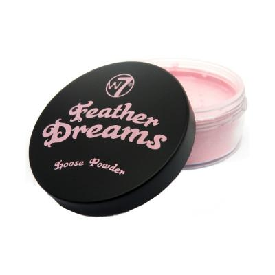 Pudra Pulbere Fixatoare W7 Feather Dreams Loose Powder - Perfect Pink, 20g