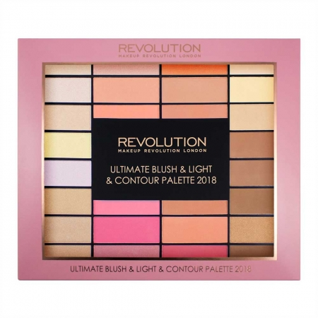 Trusa pentru Conturare Makeup Revolution Ultimate Blush, Light & Contour 2018, 32 nuante