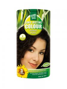 Vopsea de Par HennaPlus Long Lasting Colour - Medium Brown 4